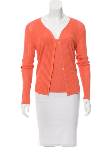 Chanel Knit V-Neck Cardigan Set None