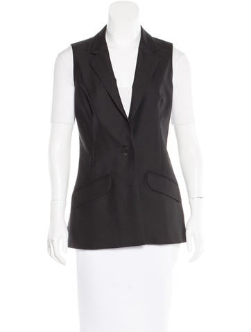 Chanel Notched Lapel Wool Vest