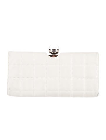 Square Quilted Leather Clutch