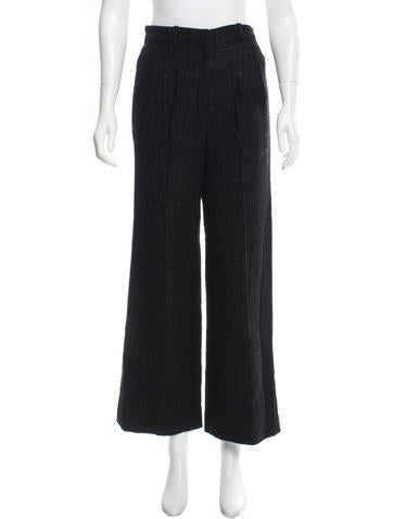 Chanel Metallic Wide-Leg Pants w/ Tags