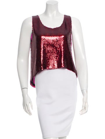 Chanel Sequined Sleeveless Top None