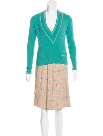 Chanel Cashmere Skirt Set None