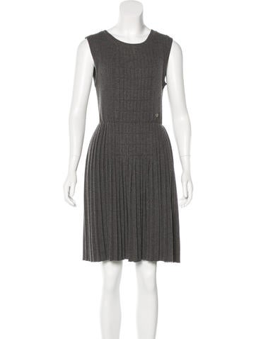 Chanel Wool Pleated Dress None
