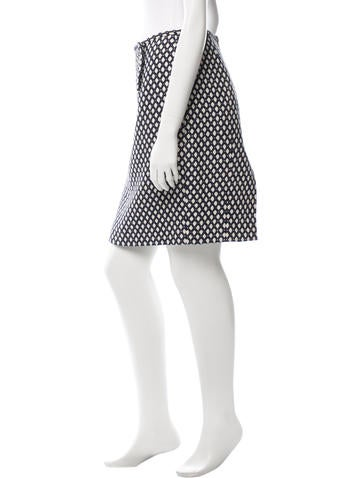Patterned Knee-Length Skirt