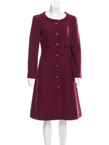 Chanel Cashmere Tweed Coat None