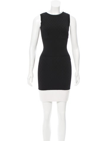 Chanel Colorblock Bodycon Dress None