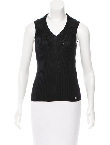 Chanel Spring 2015 V-Neck Sleeveless Top w/ Tags None
