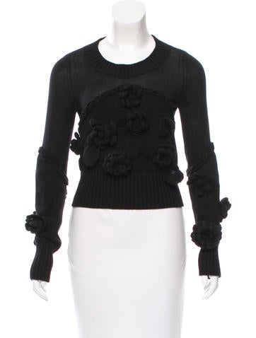 Chanel Wool Embellished Sweater None