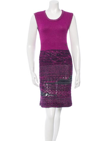 Chanel Sleeveless Knit Dress None