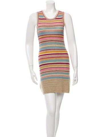 Chanel Striped Knit Dress None