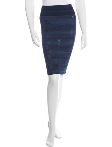 Chanel Metallic Knit Skirt None
