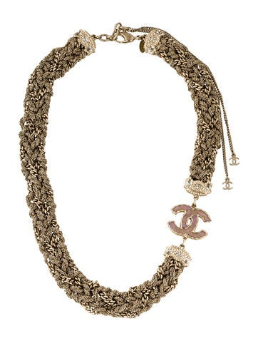 Chanel Woven CC Collar Necklace