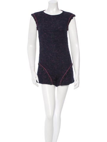 Chanel Tweed Sleeveless Romper None