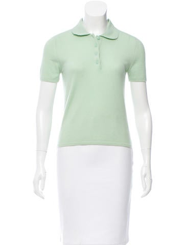Chanel Cashmere Polo Top None