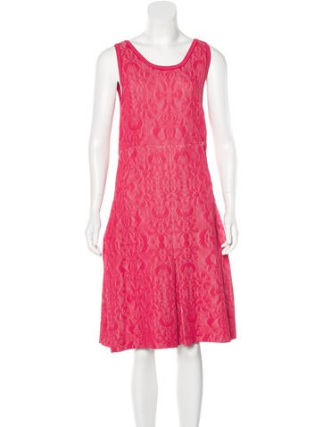 Chanel Knit Jacquard A-Line Dress w/ Tags None
