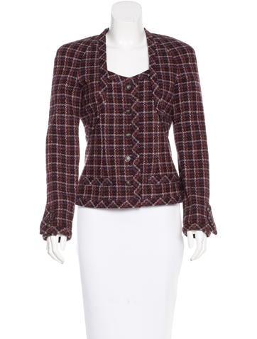 Chanel Plaid Cashmere Jacket None
