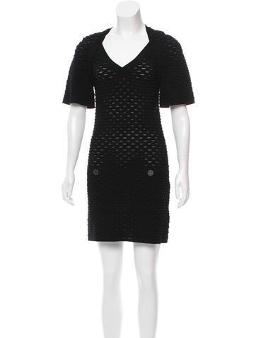 Chanel Textured Mini Dress None