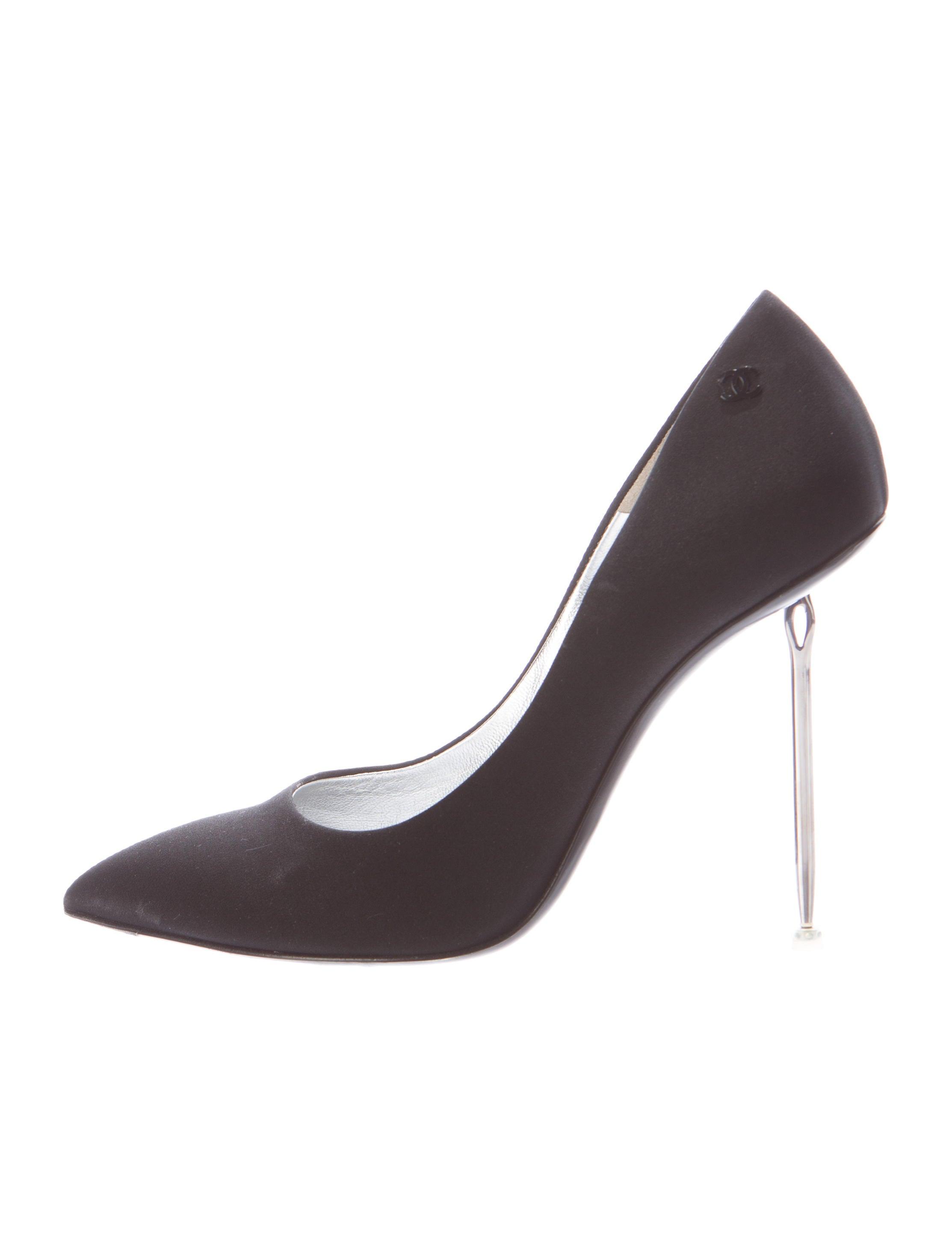 Chanel Needle Heel Satin Pumps - Shoes