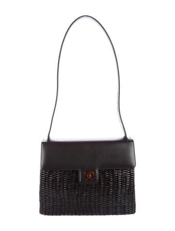 Lacquered Basket Bag