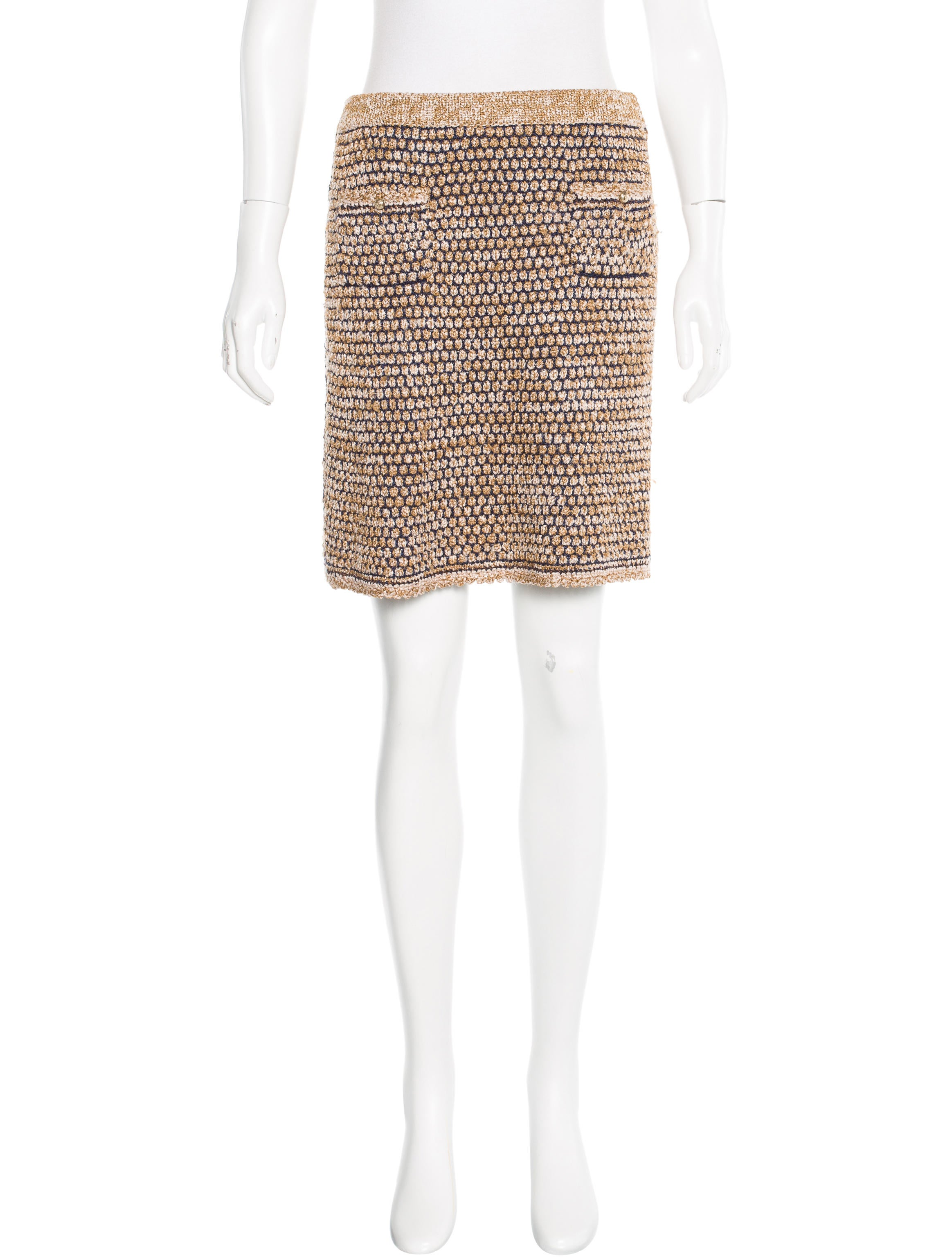 Chanel Knit Pencil Skirt - Clothing - CHA142561 | The RealReal