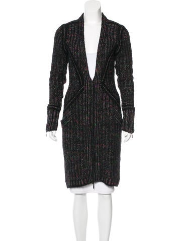 Chanel Striped Longline Cardigan None