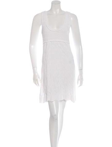 Chanel Open Knit Sleeveless Dress None