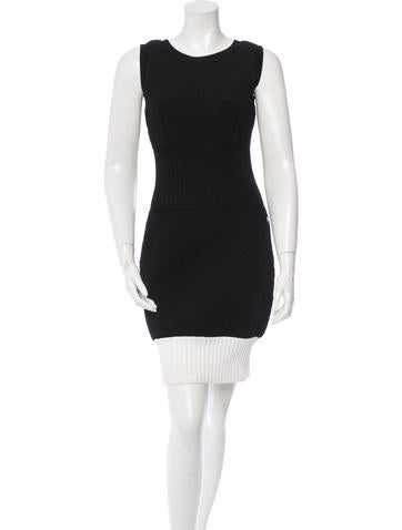 Chanel Quilted Colorblock Dress None
