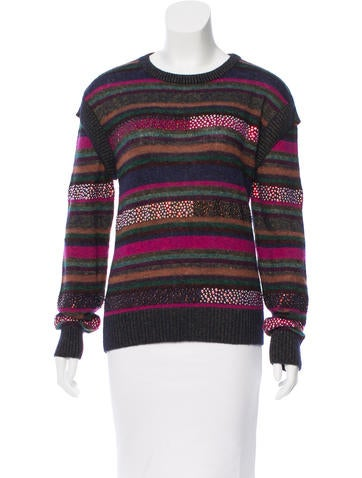Chanel Embellished Wool-Blend Sweater None