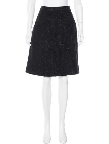 Chanel Bouclé Wool Skirt None