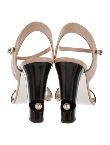 Embellished Quilted Sandals