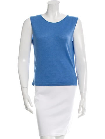 Chanel Cashmere Silk Sleeveless Top None