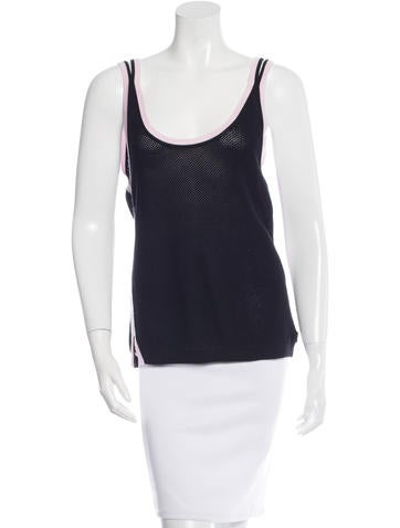 Chanel Open Knit Sleeveless Top None