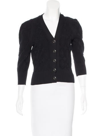 Chanel Cropped Jacquard Cardigan None