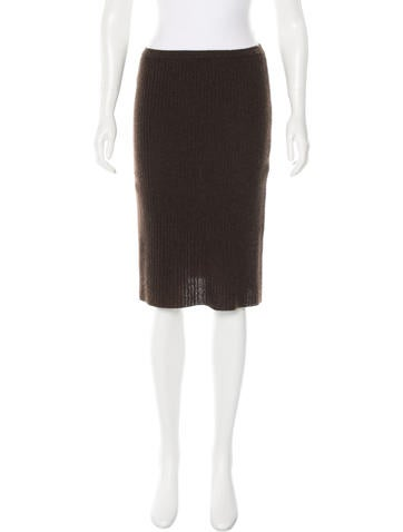 Chanel Cashmere A-Line Skirt None