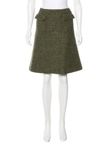 Chanel Tweed Wool Skirt None