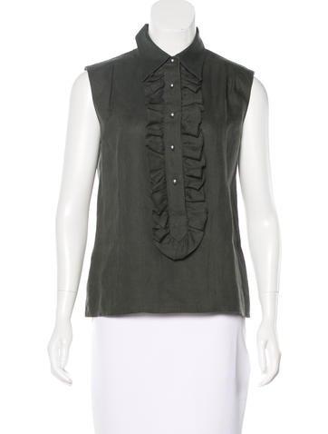 Chanel Linen Sleeveless Top None