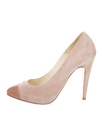 Chanel Suede Cap-Toe Pumps None
