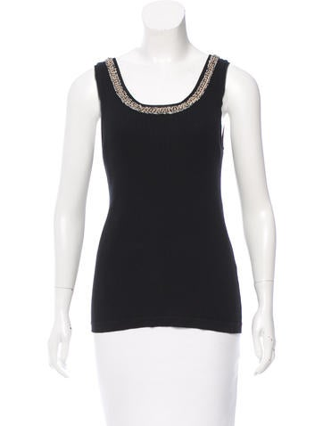 Chanel Embellished Sleeveless Top None