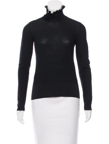 Chanel Wool Rib Knit Top None