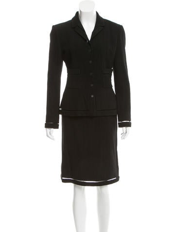 Chanel Wool Skirt Suit None