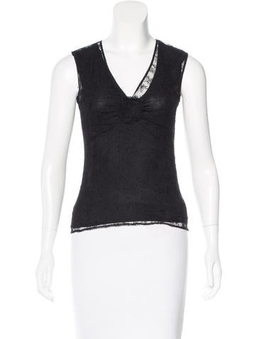 Chanel Lace Sleeveless Top None