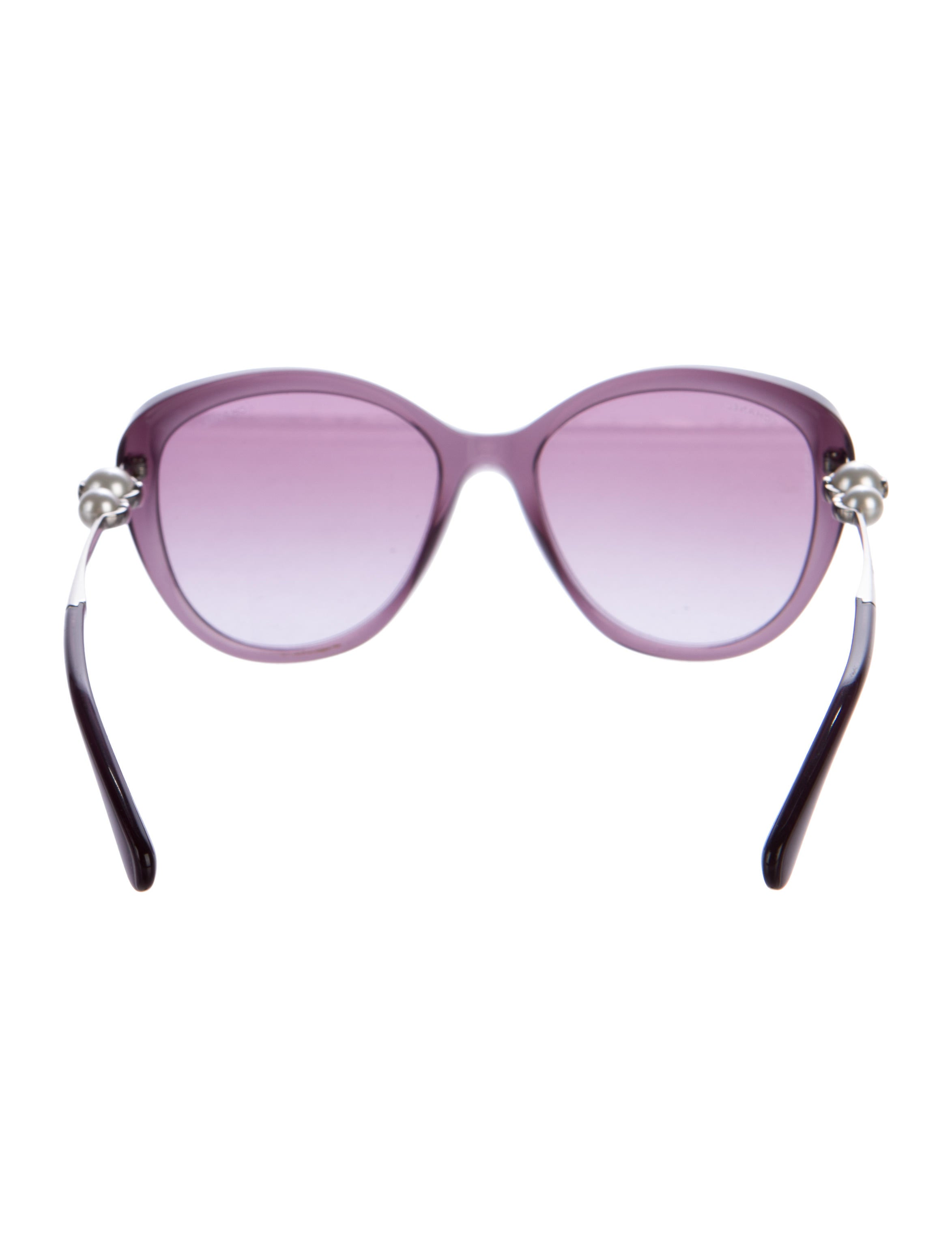 Chanel Erfly Acetate Sunglasses  chanel erfly pearl sunglasses accessories cha143992 the