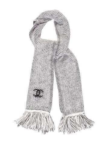 Chanel Knit Fringe Scarf None