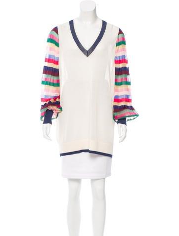 Chanel Paris-Seoul Striped Silk Sweater None