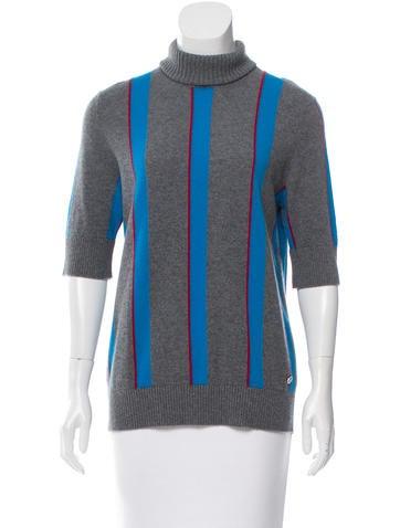 Chanel 2016 Stripe Cashmere Top w/ Tags None