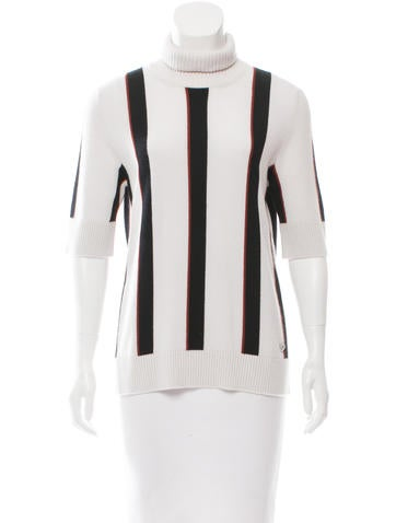 Chanel 2016 Stripe Cashmere Top w/ Tags None