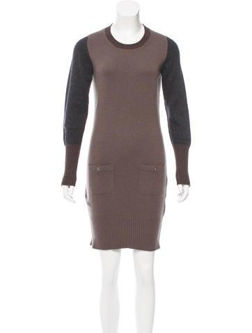 Chanel Tri-Color Cashmere Dress None