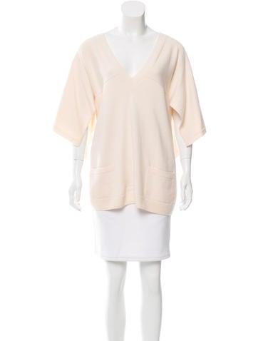 Chanel Kimono Sleeve Cashmere Sweater None