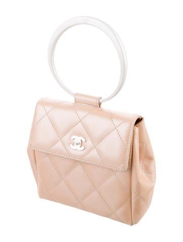 Quilted Ring Handle Bag