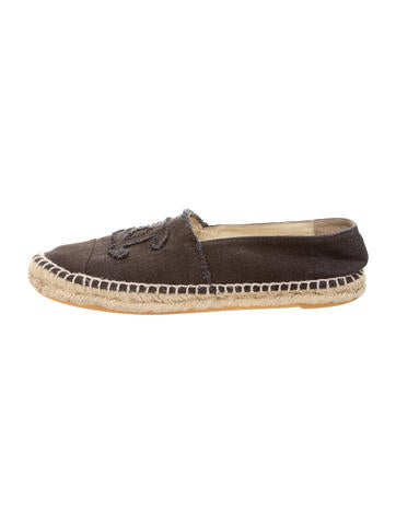 chanel canvas espadrille flats shoes cha145144 the